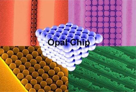 A picture of the OPAL chip